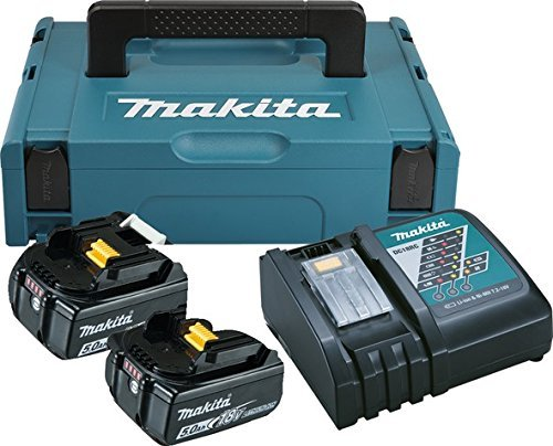 Makita PACK énergie Coffret Makpac + 2 batteries 18V 5Ah Li-Ion + chargeur DC18RC 197624-2