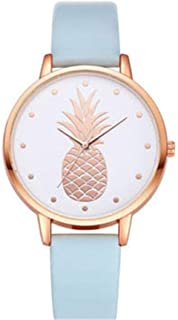 JewelryWe Relojes de Mujer con Dibujos Lápiz Labial y Rosa