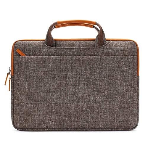 DOMISO 14 Zoll Wasserdicht Laptop Tasche Aktentasche Tragetasche Schultertasche mit USB Ladeanschluss für 14