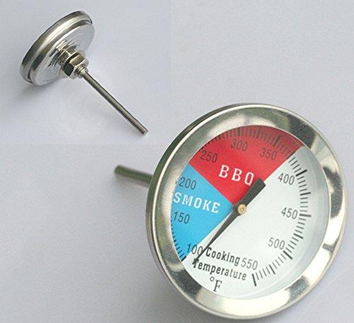 Preisvergleich Produktbild Räucher - THERMOMETER für RÄUCHEROFEN BBQ SMOKER GRILL RÄUCHERTHERMOMETER 550°F