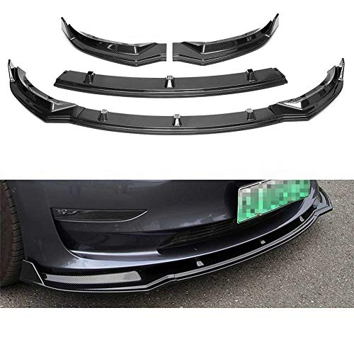 Fibra de carbon Car Front Bumper Add on Canard Lip Splitter Body Shovels para A5 S-Line B9 17-18 Bumper Lip Splitter