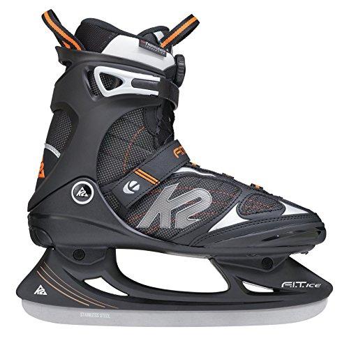 K2 Herren Schlittschuhe Fit Ice Boa - Schwarz-Orange - EU: 42 (US: 9 - UK: 8) - 2550001.1.1.090