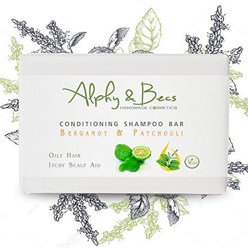 Conditioning Shampoo Bar BERGAMOT & PATCHOULI - With Coconut Milk & Shea...