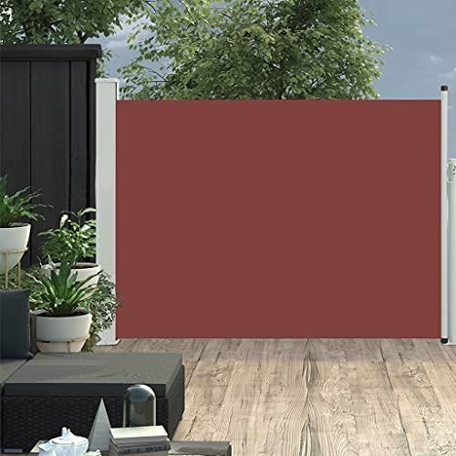 LUYIPINGQIWND Color: Tela marrón + Cubierta de Acero Gris Toldo Lateral retráctil de jardín marrón 100x500 cm