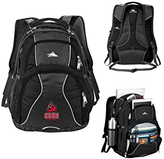 CollegeFanGear Cal State Northridge High Sierra Swerve Black Compu Backpack 'CSUN Matador'
