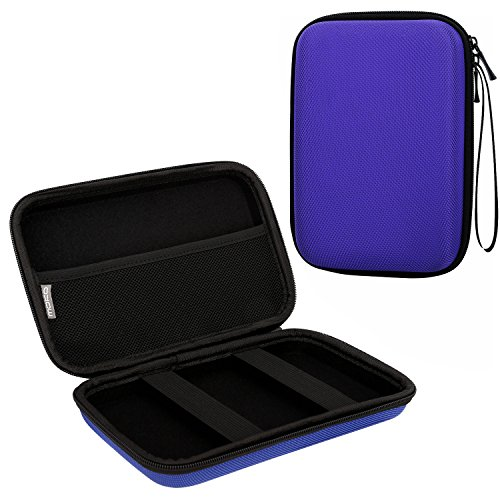 MoKo 7-Inch GPS Carrying Case, Portable Hard Shell Protective Pouch Storage Bag for Car GPS Navigator Garmin/Tomtom/Magellan with 7 Display - Blue