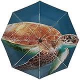 Automatischer Regenschirm Turtle Unterwasserschwimmen Shell Travel Convenient Windproof Waterproof...