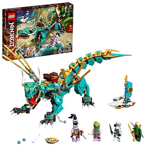 LEGO 71746 Ninjago Dragón de la Jungla, Juguete de construcción con Mini Figuras de Ninja Lloyd y Zane para Niños de +8 años