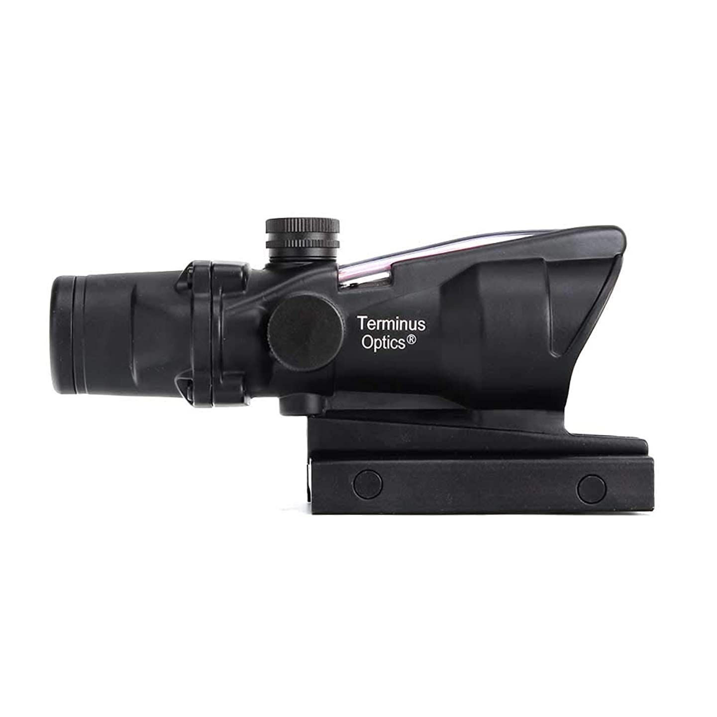 Terminus Optics Black TOC1 Chevron Reticle Green Fiber 4x32 Magnification Rifle Scope Terminus LLC
