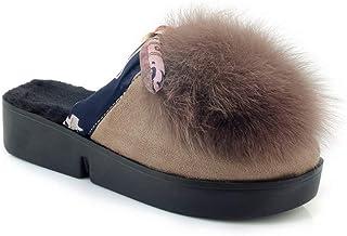 BalaMasa Womens Fringed Solid Casual Travel Urethane Slides Sandals ASL05759