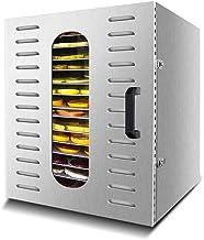 Máquina de conservación de alimentos para el hogar Deshidratador de alimentos, pantalla táctil inteligente inteligente, temperatura ajustable, silencio, silencio, con 20 capas de bandeja de acero inox