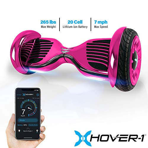 """Hover-1 Titan Electric Self-Balancing Hoverboard Scooter with 10"""" Tires, Pink"""