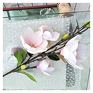 dxm Simulation Big Magnolia Flower, Hotel Floor Decoration Flower, A Set of 10 Real Decoration Flowers for Simulation Feel Film Material Silk Flower Fake Flower (Yellow) (Color : Light Pink)