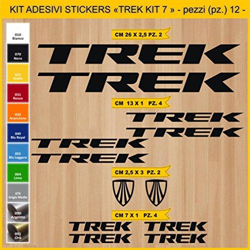 Adesivi Bici Trek_Kit 7_ Kit Adesivi Stickers 12 Pezzi -Scegli SUBITO Colore- Bike Cycle pegatina cod.0902 (070 Nero)