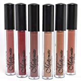Set of 6 Colors Madly MATTE Lipgloss Bold & Vivid Color Matte Lipgloss Set #5