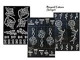 3 Sheets Tattoo Schablonen Vorlagen Henna Designs für Körperbemalung Soraja 3