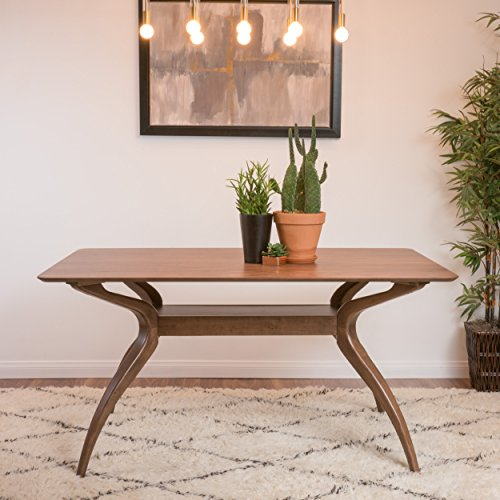 Mabel Natural Walnut Finish Wood Mid Century Modern Dining...