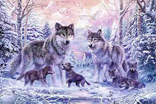 FDDPT Erwachsenenpuzzle Wolf Puzzle 1000 Teile Holzpuzzle 75x50cm