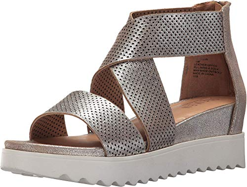 Price comparison product image STEVEN by Steve Madden Women's NC-Klein Sandal,  Metallic,  8.5 M US