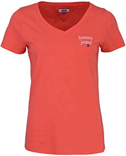 Tommy Jeans Femme Essential V-neck Tee T-Shirt Coque