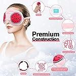 Hilph®Réutilisable Masques de Refroidissement pour Anti Cernes Yeux, Thérapie Froid Chaud Migraine Masques de Refroidissement pour Yeux Gonflés et la Relaxation #1