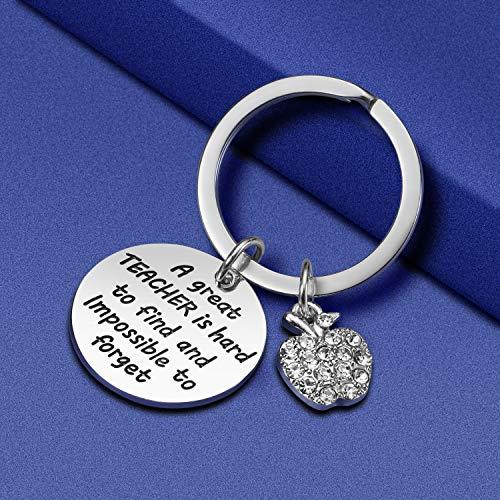 Teacher Appreciation Gift for Women - Teacher Keychain Teacher Jewelry Teacher Gifts,Thank You Gifts for Teacher, Christmas Gifts for Teacher Valentine's Day Gift Photo #6