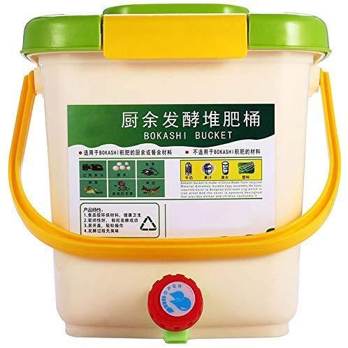 Wangkangyi Contenedor para compostaje casa jardín fertilizantes orgánicos hechos en casa, residuos de la cocina fermentación compost cubo cocina residuos de plástico