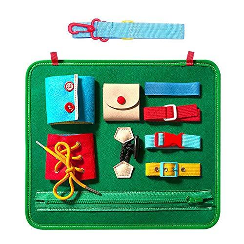 Juguetes educativos para la primera infancia, paneles educativos para vestirse, subvenciones para la enseñanza de la vida cognitiva en la guardería, juguetes educativos.