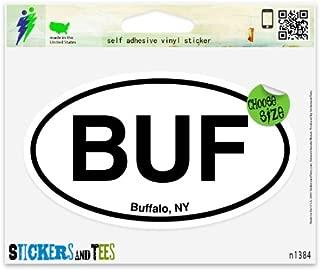 BUF Buffalo NY New York Oval Vinyl Car Bumper Window Sticker 3