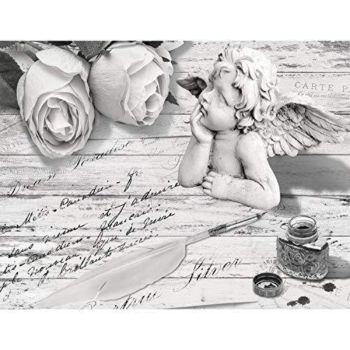 Fototapeten Vintage Blumen 352 x 250 cm - Vlies Wand Tapete Wohnzimmer Schlafzimmer Büro Flur Dekoration Wandbilder XXL Moderne Wanddeko - 100% MADE IN GERMANY - 9228011c