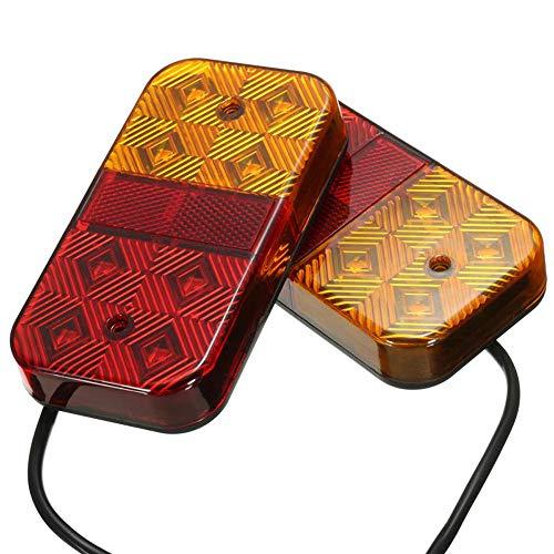 HEHEMM Lot de 2 feux arrière à 8 LED pour voiture et camion 10-30 V