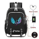 学校の旅行に適したスクールバッグティックトックバックパックトラベルバッグ学生スクールバッグを充電USB K