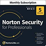 Norton Security for Professionals 2021 – Antivirus software for up to 5 Devices [1-Month Subscription]