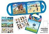 Paper Projects 01.70.29.011 Paw Patrol - Juego de actividades de la Patrulla Canina, incluye seis escenas y más de 50 pegatinas reutilizables, azul, 23,5 cm x 15 cm