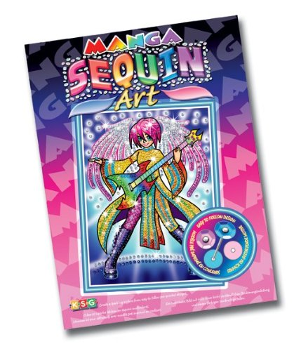 KSG Sequin Art Manga 0926 Arts et Crafts Rock Kit Photo Ange