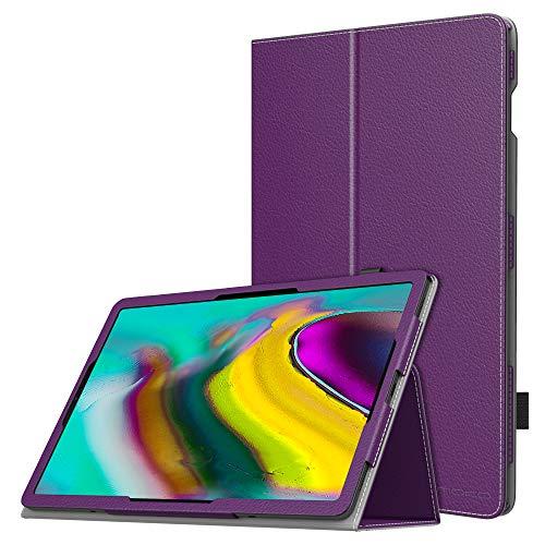 MoKo Funda Compatible con Samsung Galaxy Tab S5e SM-T720/SM-T725 2019, Ultra Slim Función de Soporte Plegable Smart Cover Stand Case Compatible con - Morado