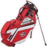 Wilson Golf Bolsa de Transporte W/S Exo, Rojo/Blanco, Soporte Integrado, 2.3 kg, WGB6000RD