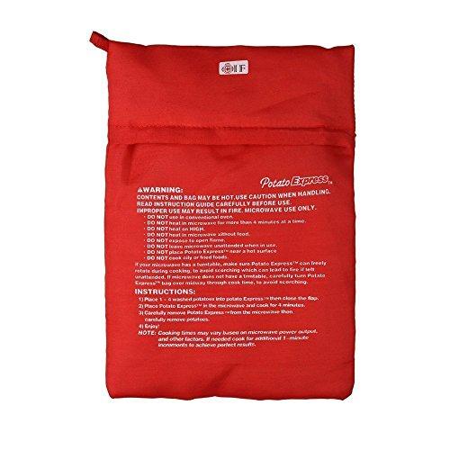 UCTOP STORE 2pz fornello a microonde Patate Bag Tortillas fornello Bag Lavabile e Riutilizzabile Borsa Perfetta Patate Appena in 4Minuti