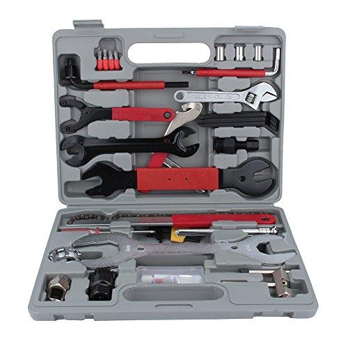 Reparaturset für Fahrrad, professionelles Werkzeug, 44 Teile, Reparatur-Set für Das Fahrrad, Multifunktionsgerät mit Box für Alle Arten von Fahrrädern.