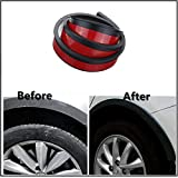 HiwowSport Car Wheel Rubber Fender Flares Universal Eyebrow Edge Trim Protector (4CM5FT2pcs)