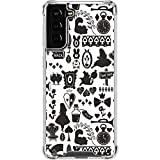 Skinit Clear Phone Case Compatible with Galaxy S21 Plus 5G - Officially Licensed Disney Alice in Wonderland Silhouette Design