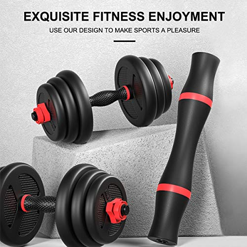 Tespon Adjustable Dumbbells Barbell 2 in 1 with Connector, Adjustable Dumbbell Barbell Sets 66lbs, Lifting Dumbells for Body Workout Home Gym(2020 Upgrade,One Pair) 7