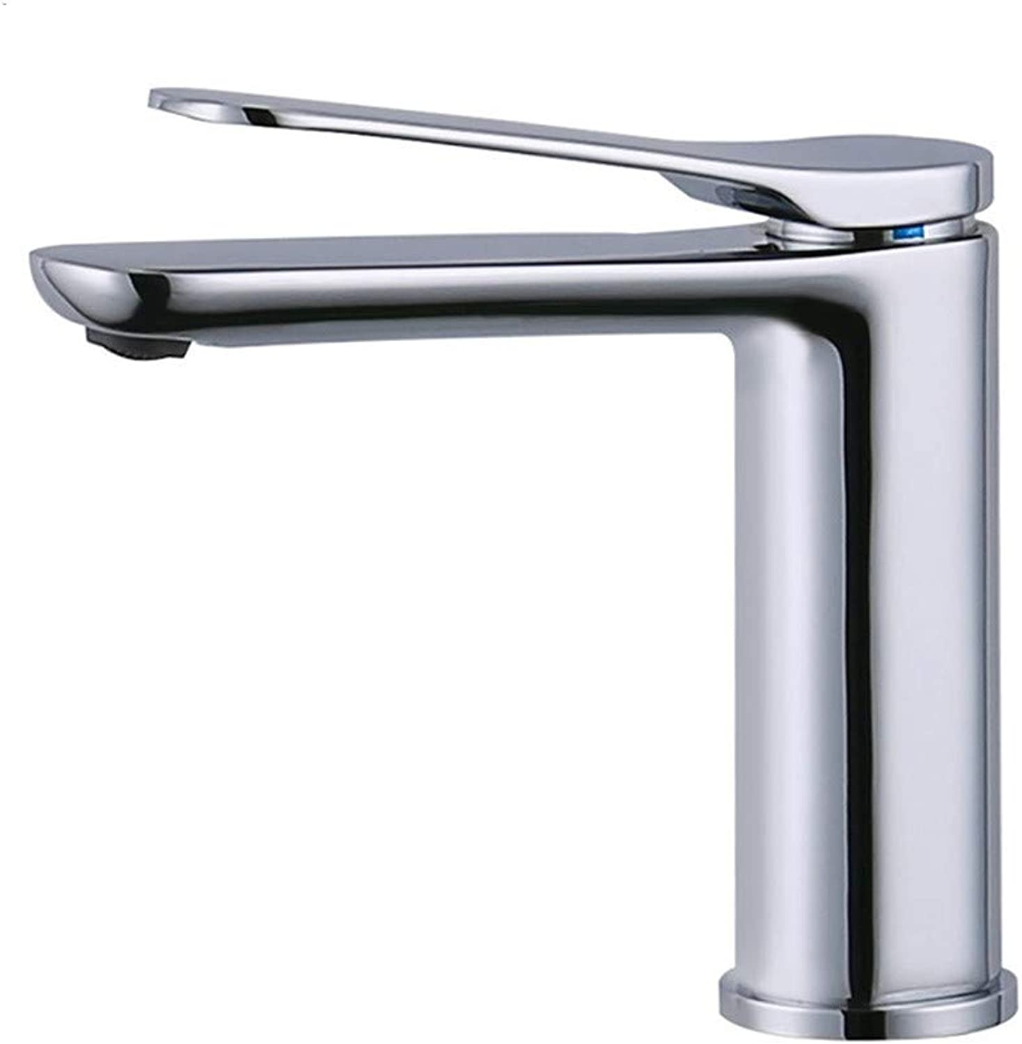 PajCzh Taps Taps Faucet Faucet Sink Bathroom Sink Taps Copper Chrome-Plated Long Mouth Hot And Cold Basin Faucet Apartment Home Mixed Water Saving Basin Faucet