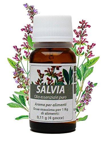 SALVIA OLIO ESSENZIALE PURO 10 ml. Acne, micosi, menopausa, mestruazioni