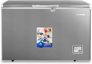 Nikai 260 Liters Chest Freezer with Anti Scratch Cabinet, Silver - NCF260N7S, 1 Year Warranty