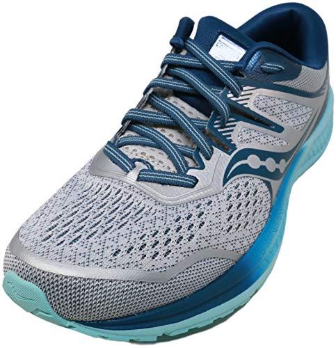 Saucony Women's Omni ISO 2 Running Shoe, Grey/Aqua, 7.5