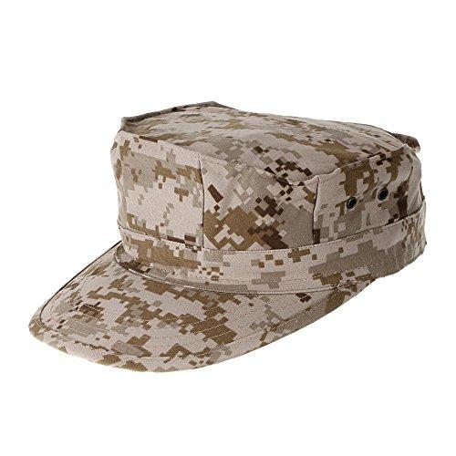 Tactical Area Camouflage Militare da Uomo Ottagonale Cappello Army Ranger Ripstop Soldier Combat Cappelli per attività all' Aperto, Desert Digital