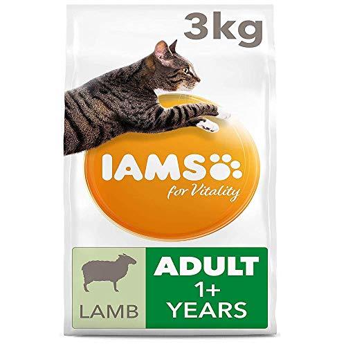 Iams 189131/449 for Vitality Adult Katzenfutter trocken mit Lamm 3kg