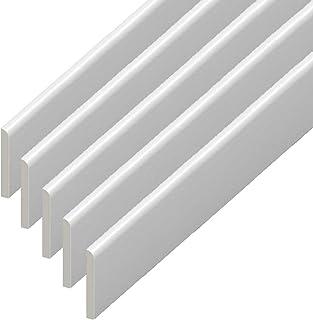 Borde de plástico de UPVC – rodapié blanco Architrave y borde de acabado de ventana