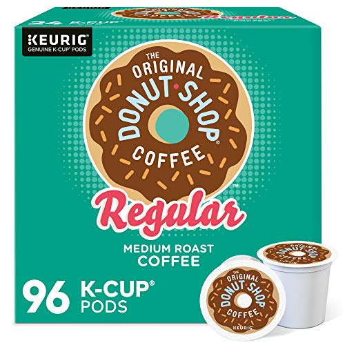 The Original Donut Shop Regular, Single-Serve Keurig K-Cup Pods, Medium Roast Coffee Pods, 96 Count